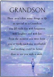 grandson birthday wishes poems pinteres With letter my first grandson