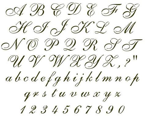 Alphabet Letters In Cursive Letters