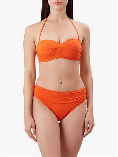 Hobbs Amelia Bikini Mango Orange Johnlewis