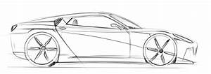 Car Sketch Side View Sketch Coloring Page