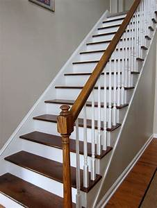25 best ideas about painted wood stairs on pinterest With escalier peint 2 couleurs