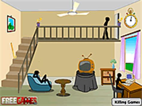 stickman living room play violence
