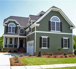 sage green exterior house color ideas | Kinjenk House Design