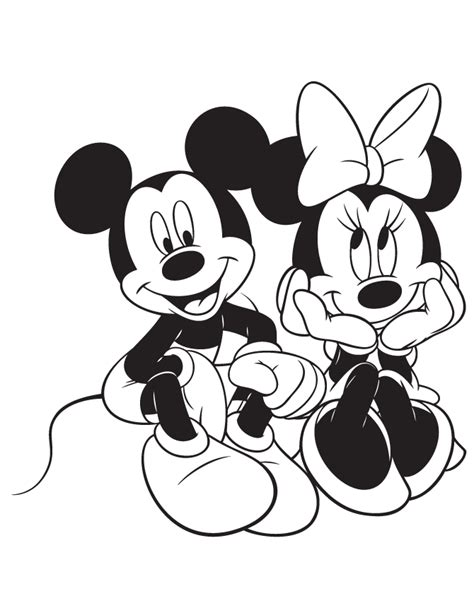 mickey mouse head coloring pages coloring home