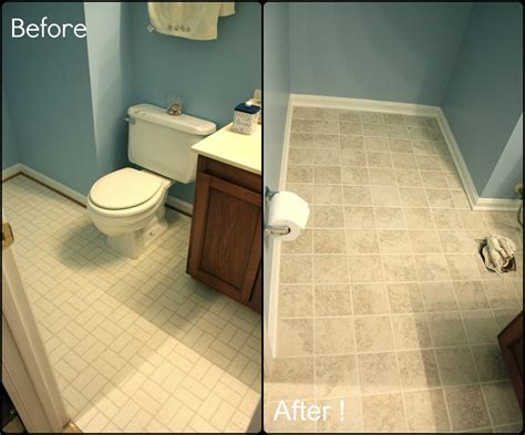 Before And After Pictures Of Painted Bathroom Tiles by Simply Diy 2 Bathroom Floor Part 3 Done