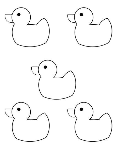 small template 10 rubber ducks kindergarten nana