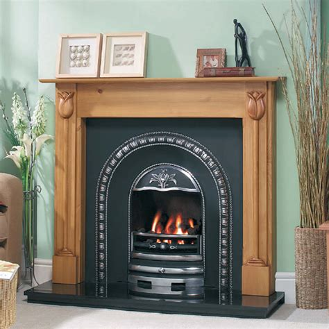 Classic Design Cast Tec Tulip Arch Fireplace Insert