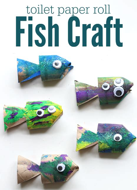 toilet paper roll fish craft no time for flash cards 112   tp roll fish craft