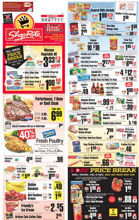 shoprite coupons  deals   week  living