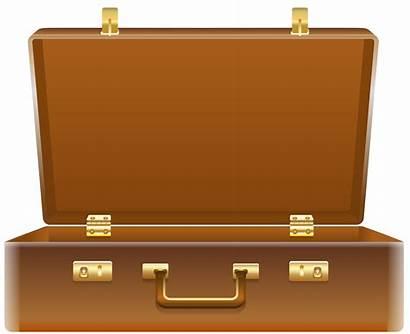 Suitcase Open Clipart Clip Suitcases Travel Transparent