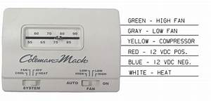 Rvp 7330g3351 Coleman Mach White Manual Wall Thermostat