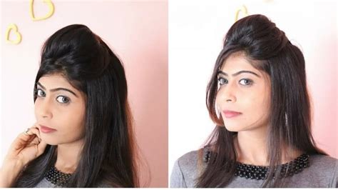quick and easy puff hairstyle simple craft ideas