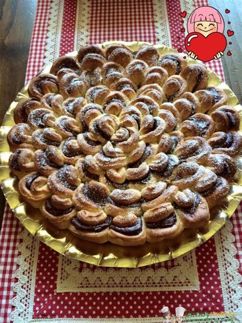 fiore di nutella bimby torta fiore bimby con nutella ricette bimby tm31 tm5