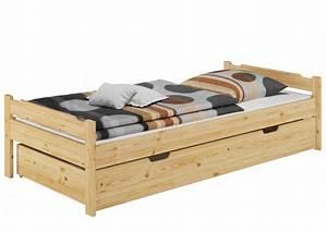 Bett Holz 90x200 : bett 90x200 einzelbett kiefer natur rollrost matratze bettzeug bettkasten m b s5 ~ Markanthonyermac.com Haus und Dekorationen