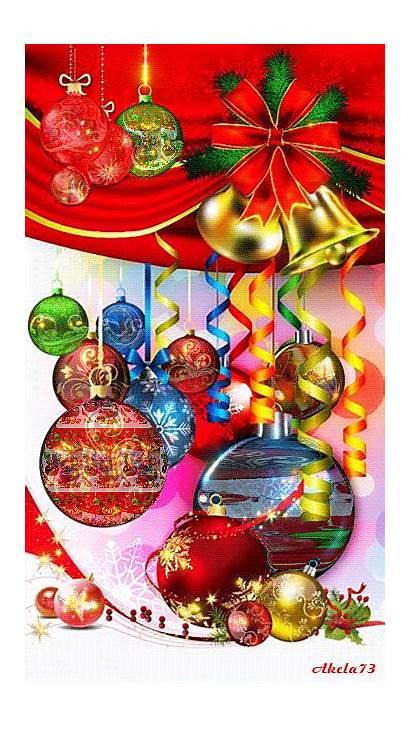 Christmas Animated Ornaments Merry Gifs Xmas Balls