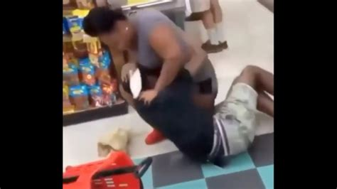 Big Girl Beats A Person Up Over Some Donuts! Video