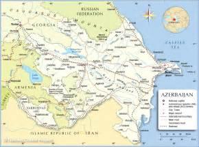 Political Map of Azerbaijan ( Republic of Azerbaijan ) Azerbaijan