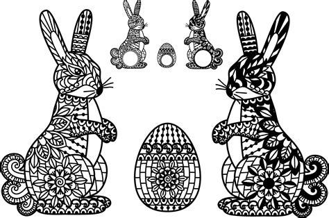 Easter Bunny Svg Ornate Easter Egg Mandala Zentangle Rabbit