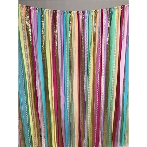 Garland Backdrop by Rainbow Fabric Garland Backdrop Backdrop Express