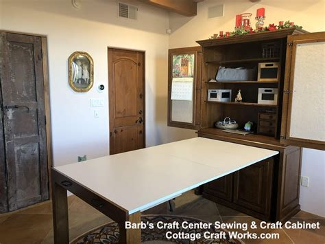 amish furniture sewing crafts cabinet barbs craft center