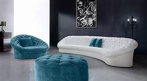 Cosmopolitan White Fabric Sectional Sofa