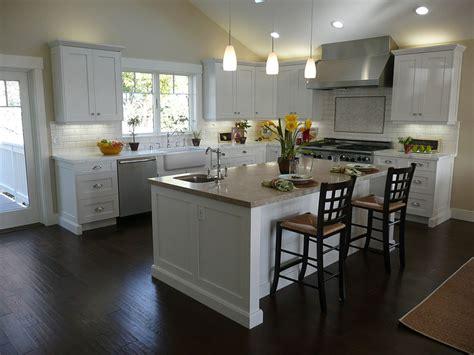 white and dark wood kitchen 12x12 kitchen layout best layout room 656 | Black Wooden FLoor Simple Chandelier White Kitchen Island Modern Kitchen Chimney
