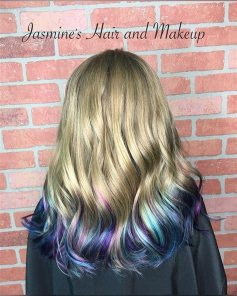 Purple Blue Dip Dye Ombre Kids Hair My Work In 2019