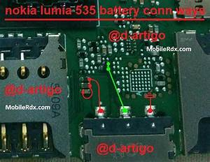 Nokia Lumia 535 Battery Connector Solution Jumpers