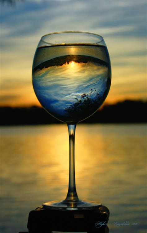 beautiful landscapes reflection  glassware  images