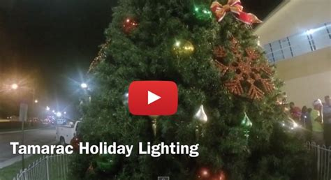 city tamarac holds christmas tree lighting tamarac talk