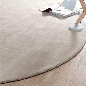 tapis rond soft beige 200 cm diametre maisons du monde With tapis rond diametre 200
