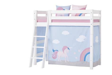 rideau de lit mezzanine mi hauteur licorne basic 70x160