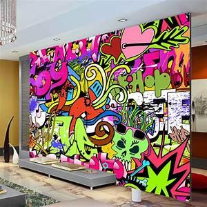 Graffiti boys urban art photo wallpaper custom wall mural