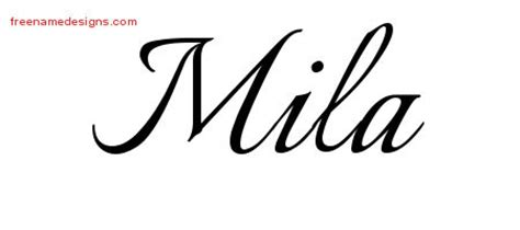 Mila Archives  Free Name Designs