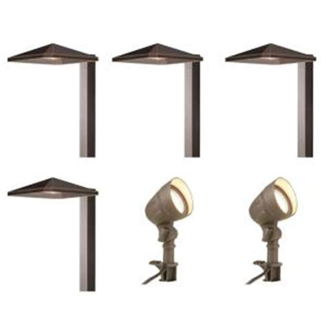 hton bay low voltage integrated led bronze outdoor