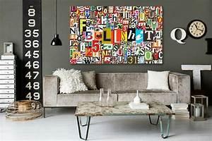 Tableau Deco Design : tableau design abstrait alphabet izoa ~ Melissatoandfro.com Idées de Décoration