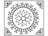 Diwali Rangoli Coloring Pages Designs Happy Colouring Printable Colour Printables Drawing Template Easy Sheets Templates Worksheets Pattern Sheet Cards Diya sketch template