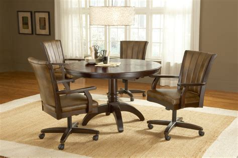 dining table with rolling chairs kitchen table with rolling chairs home design ideas and