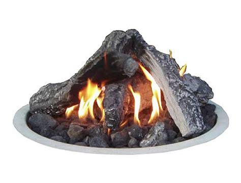 Gas Fire Pit Outdoor Log Set