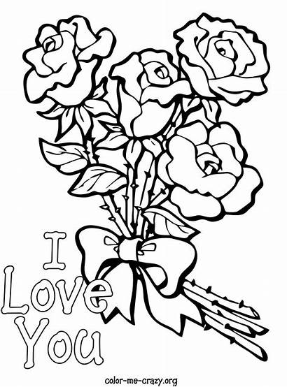 Valentine Coloring Pages Hearts Roses Valentines Printable