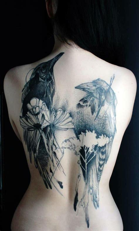 Back Tattoo Design For Women Marta Lipinski Birds
