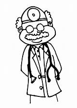 Doctor Drawing Doctors Coloring Clipart Colouring Office Pages Medical Clip Surgeon Library Cliparts Child Collection Drawings Equipment sketch template