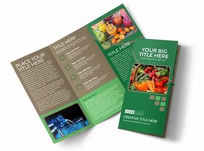 Brochure Nutrition Diet Template Templates Fold Tri