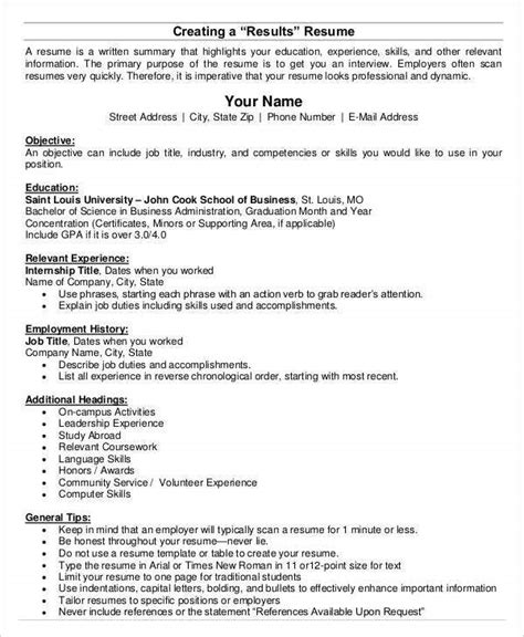 basic business resume templates