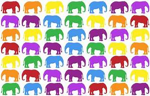 Colorful Elephant Wallpaper Free Stock Photo - Public ...