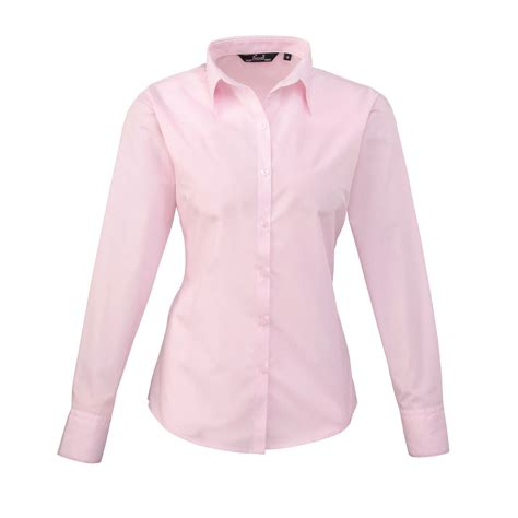 fitted blouses premier poplin sleeve plain colour