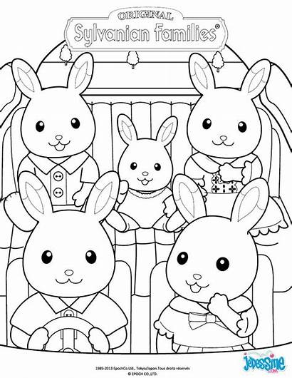 Calico Critters Coloring Sylvanian Pages Families Famille