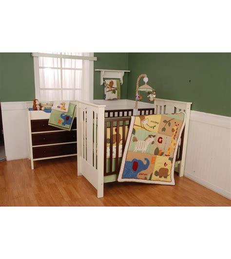 safari crib set kidsline safari 4 crib bedding set