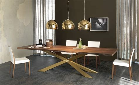 dining table  irregular solid wood edges  cattelan