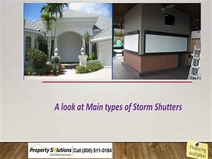 A Look At Main Types Of Storm Shutters